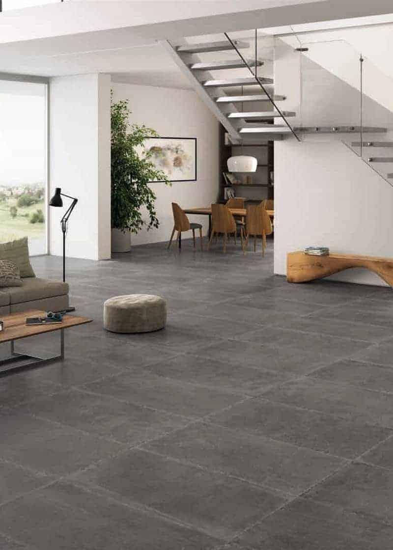 Fliesenboden Wohnzimmer