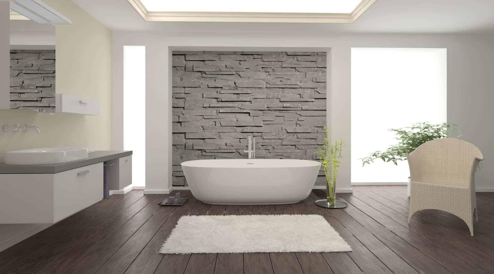 Fliesen für Bad, Boden, Wand. Fliesenleger Bialon, der ...
